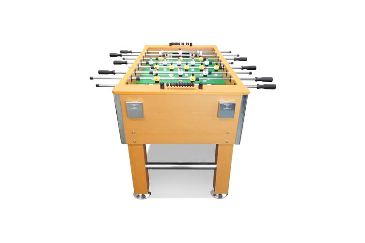 5FT Soccer Foosball Table Heavy Duty for Pub Game Room with Drink Holders,Oak