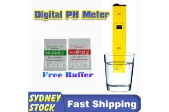 PH Meter Tester Pen Digital Portable Aquarium Water Monitor Pool Hydroponics