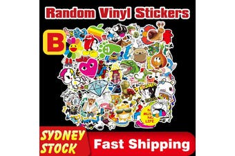 100Pcs Skateboard Luggage Random Stickers Vinyl Laptop Car Cartoon Hero Game