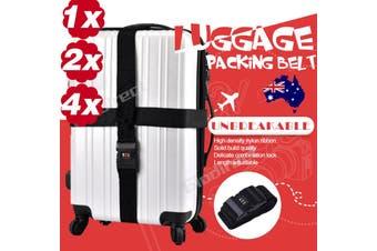 2pcs Travel Luggage Strap Suitcase Belt Adjustable Password Secure Lock Nylon Packing