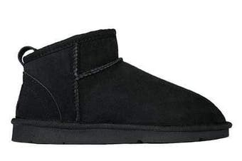 Jumbo UGG Australian Made Classic Mini Boots#JBMINI Black / AU Ladies 8 / AU Men 6 / EU 39