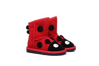Ever UGG Kids Ladybug Boots in Red Red / AU Kids 12-13 / EU 31