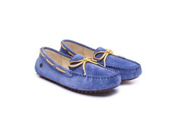 Ever UGG Ladies Summer Lace Moccasins 11622 Navy Blue