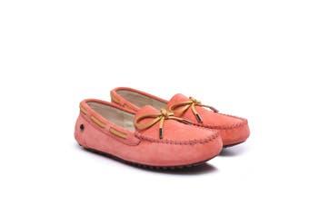 Ever UGG Ladies Summer Lace Moccasins 11622 Dark Pink