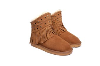 Ever UGG Ladies Fashion Ankle Boots Trinity #11782 Chestnut