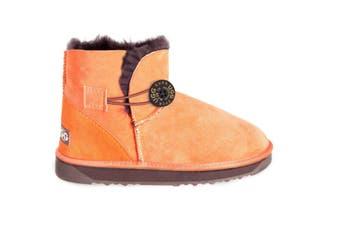 Australian Made Mini button fruit UGG Boots #12758-Clearance Orange Chocolate(Sweet Potato)