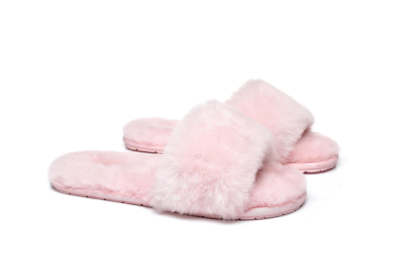 Fluffy Slides Pink / AU Ladies
