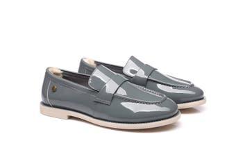 Ever UGG Ladies Smart Leather Loafer Ella #11976 Pl Grey