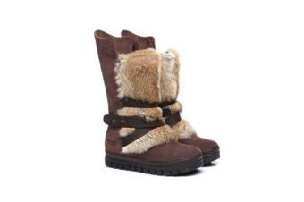 Ever UGG Ladies Tall Buckle Boots Avery #11992 Chocolate / AU Ladies 5 / AU Men 3 / EU 36