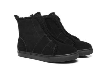 AS UGG Side Zipper Ladies Mini Boots Nana #521001 Black