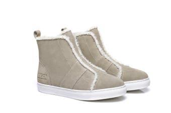 AS UGG Side Zipper Ladies Mini Boots Nana #521001 Sand