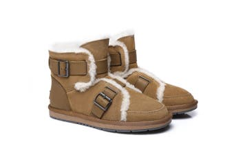 AS UGG Buckle Boots Helmi Chestnut
