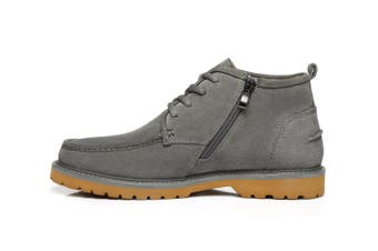AS UGG Mini Boots Mens Lace up Shoes Justin Grey / AU Ladies 9 / AU Men 7 / EU 40