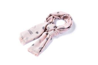 Hello Kitty Wool Scarf #828006 Grey / Pink / AU Ladies FREE / AU Men FREE / EU FREE