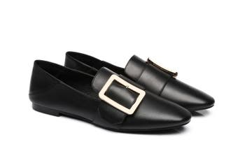 AS UGG Square Buckle Loafer Sally #522019 Black