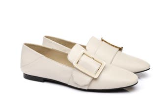 AS UGG Square Buckle Loafer Sally #522019 Cream