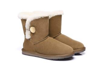AS UGG Short Button Boots Alva Chestnut / AU Ladies 5 / AU Men 3 / EU 36