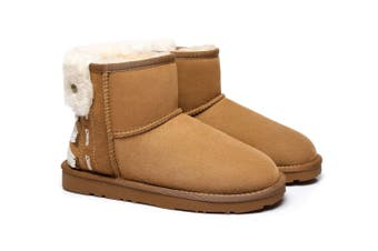 Ever UGG Ladies Mini Boots Darla #321018 Chestnut