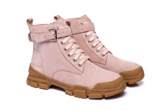 Ever UGG Ladies Leather lace-up boots Sarabi #321024 Pink