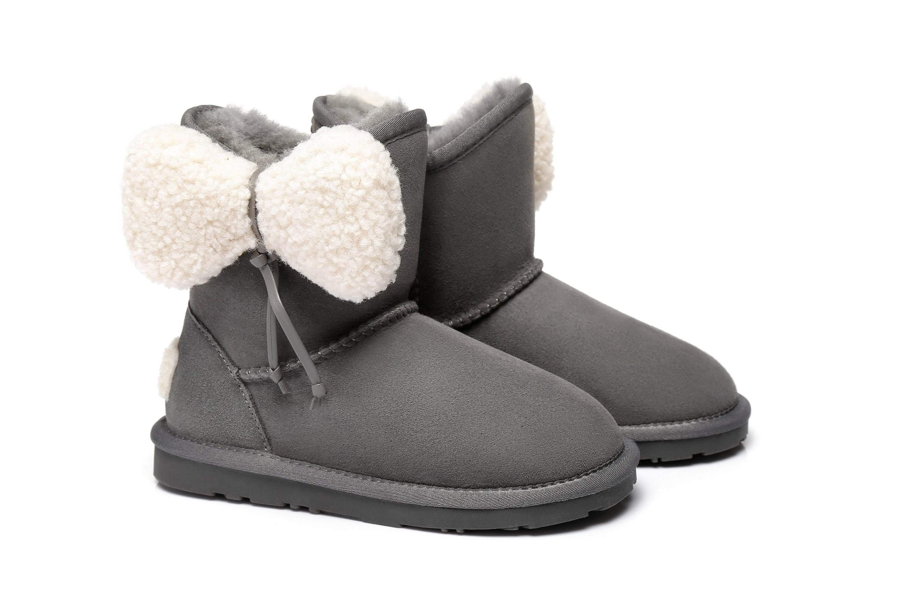 Ever UGG Kids Boots with Bow vela
