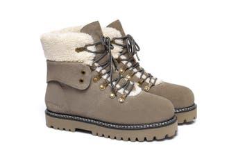 Ever UGG Ladies Leather Lace-up boots Nala #321023 Khaki