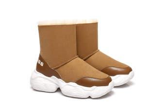 Ever Ugg Short Boots Sponge Sole Dawn Chestnut / AU Ladies 6 / AU Men 4 / EU 37