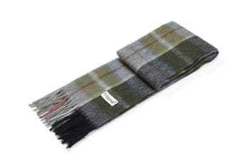 Ever UGG Wool Plaid Scarf Moss Green / One Size