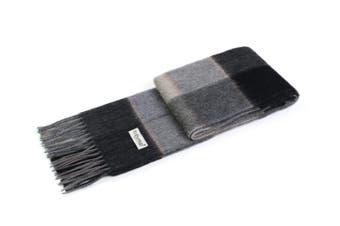 Ever UGG Wool Plaid Scarf Urban Grey / One Size