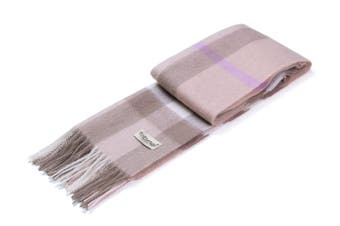 Ever UGG Wool Plaid Scarf Pearl Pink / One Size