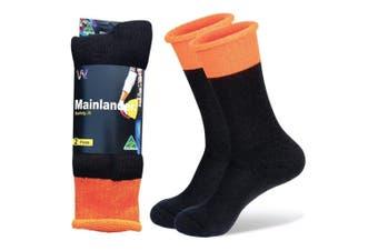 Wearproof Mainlander Safety 2 Pair Pack Socks Orange
