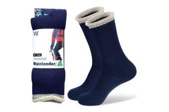 Wearproof Mainlander Original 2 Pair Pack Socks Navy Blue