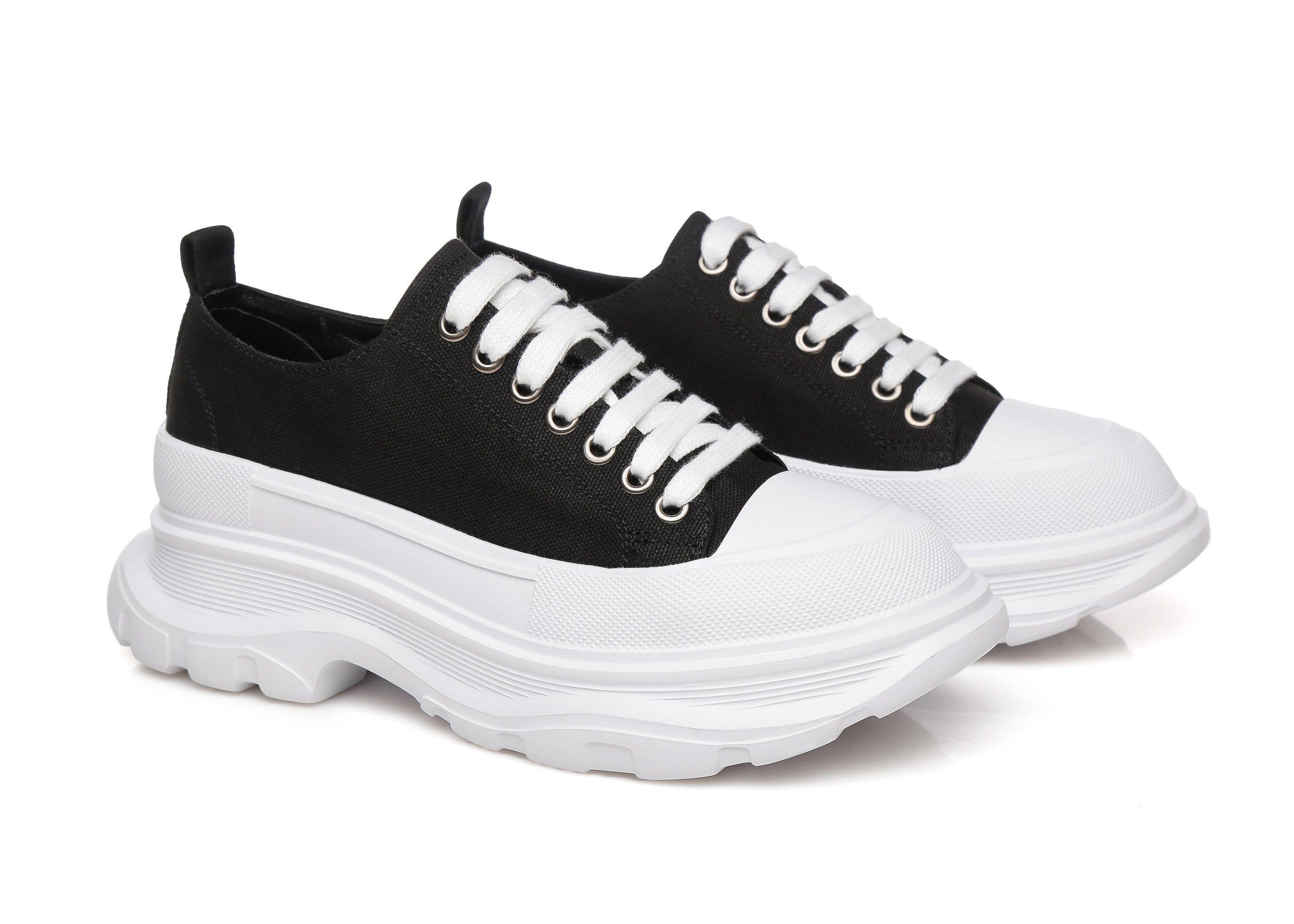 TA Chunky Platform Sneaker Pela Black