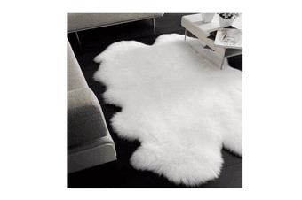 Quarto Australian Sheepskin Wool Long Rug Natural Lvory / One Size