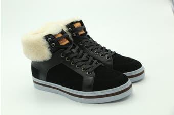 UGG Mens Casual Jordan Boots Fur Black