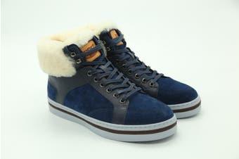 UGG Mens Casual Jordan Boots Fur Blue
