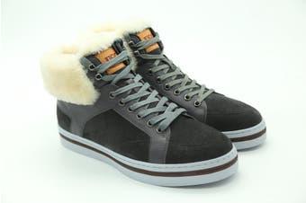 UGG Mens Casual Jordan Boots Fur Grey