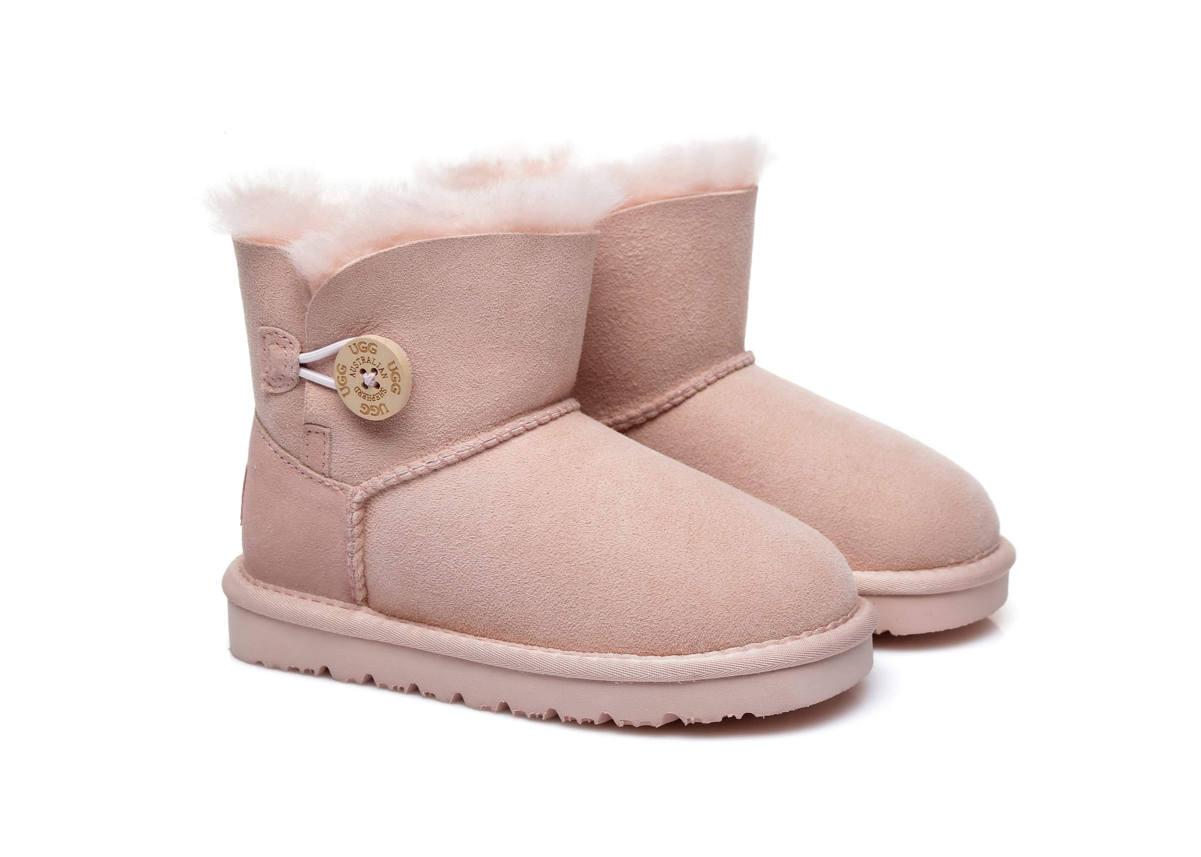 AS UGG Kids Mini Button Boots Pink / AU