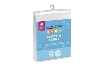 Protect-A-Bed® Cotton Terry Waterproof Cradle/Portacot Mattress Protector with Elastic Straps