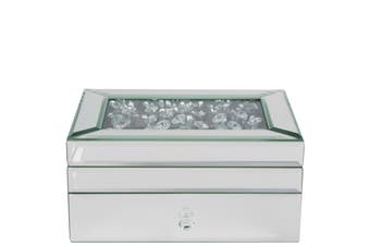 Extra Large Mirrored Tiffany Jewellery Box With Crystal Top