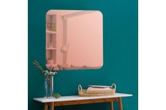 Cooper & Co. Issy Urban Frameless Square Mirror Rose Gold 70 cm