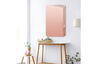 Cooper & Co. Issy Urban Frameless Rectangle Mirror Rose Gold 90 cm
