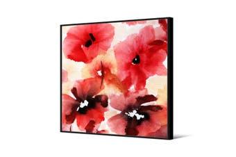 Cooper & Co Framed Wall Art Red Flower 100x100cm