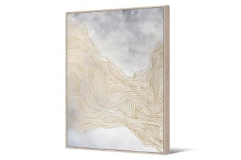 Cooper & Co Framed Wall Art Gold Spalsh 140x100 cm