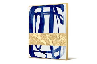 Cooper & Co Framed Wall Art Abstract Blue 140x100 cm