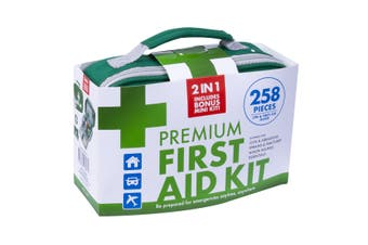 258 PC Deluxe First Aid Kit With Bonus Pack