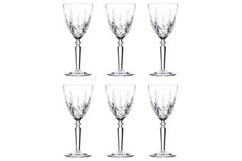 RCR Crystal Set of 6 290ml Orchestra Cut Glass Wine Glasses