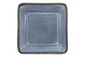 Casa Regalo Set of 6 20cm Ceramic Square Side Plates Set Dinning Kitchen Hand
