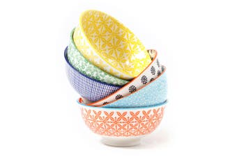 Cooper & Co. Set of 6  Ceramic Viola Bowls 12cm Small Microwave DishwahserSafe