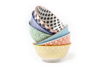 Cooper & Co. Set of 6 Ceramic Viola Bowls Large 15cm Microwave Dishwahser Safe