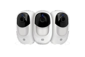Uniden - Guardian App Cam Solo+ (3Pack)  Wire-Free FULL HD Weatherprf Smart Cam